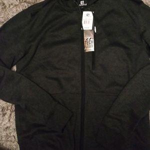 Mens hoodie zip up large fleece south Pole top